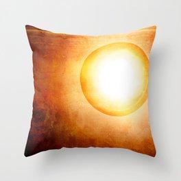 The Cosmic Sun Throw Pillow