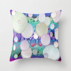 Air Bubbles Throw Pillow