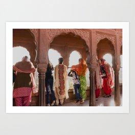 Colours of India (Junagarh Fort, Bikaner) Art Print