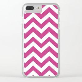 Smitten - violet color - Zigzag Chevron Pattern Clear iPhone Case