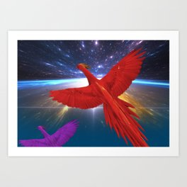 Phoenix in Space Art Print