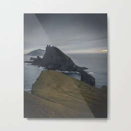 Cloudy Seas and Mystic Cliffs Metal Print