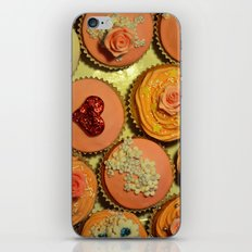Heart and Floral Cupcakes iPhone & iPod Skin