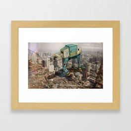 At-At's Take Over Framed Art Print