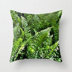 Fresh Ferns Throw Pillow