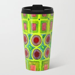 Connected filled Squares Fields Travel Mug