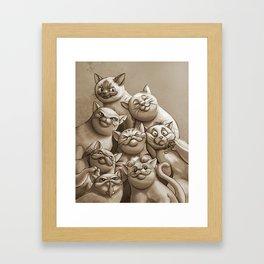 Cat Pack Framed Art Print