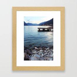 Shores of Lake Garda Framed Art Print