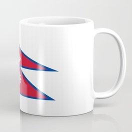flag of nepal-nepal,buddhism,Nepali, Nepalese,india,asia,Kathmandu,Pokhara,tibet Coffee Mug