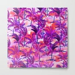 Palm Tree Purple Metal Print