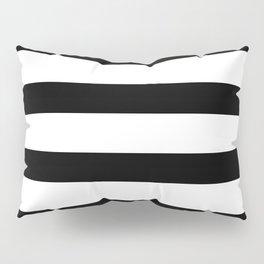 Black and White Horizontal Stripes Pillow Sham