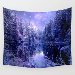 Lavender Winter Wonderland : A Cold Winter's Night Wall Tapestry