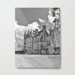 Castle B&W Metal Print
