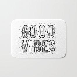 Good Vibes - Black on White (Customer Request) Bath Mat