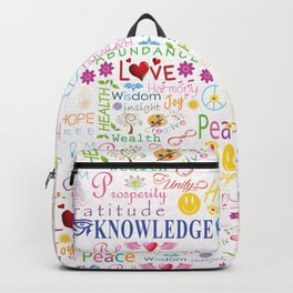 Inspirational Words Backpack