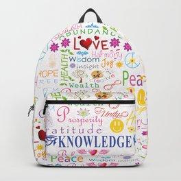Inspirational Words Backpack
