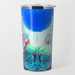 MIND #1 Psychedelic Meditation Vibrant Ethereal Design Travel Mug
