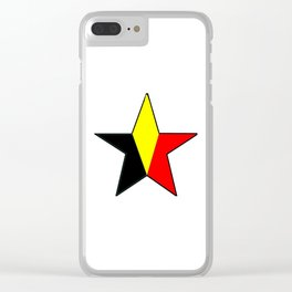 Flag of belgium 6 belgian,belge,belgique,bruxelles,Tintin,Simenon,Charleroi,Anvers,Maeterlinck Clear iPhone Case