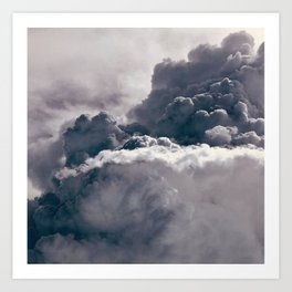 Heavy Thunder Clouds - Spectacular Aerial Photography Art Print