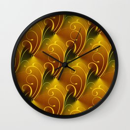 Autumn colors diamond filigree pattern Wall Clock