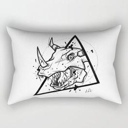 Greymon Handmade Drawing, Made in pencil and ink, Tattoo Sketch, Tattoo Flash, Blackwork Rectangular Pillow