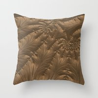 renaissance Throw Pillows featuring Renaissance Brown by Charma Rose