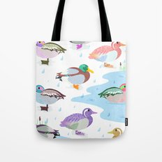 Nice Weather For Ducks Tote Bag