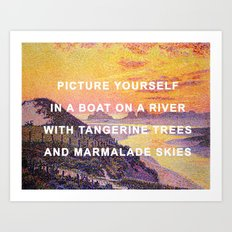 Sunset in the Sky with Diamonds Art Print