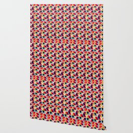 Colorful Umbrellas Geometric Pattern Wallpaper