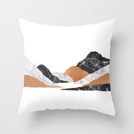 Marble Landscape II Throw Pillow