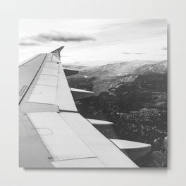 Mountain State // Colorado Rocky Mountains off the Wing of an Airplane Landscape Photo Metal Print