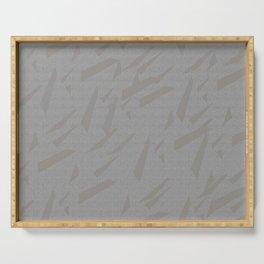 motif gris Serving Tray