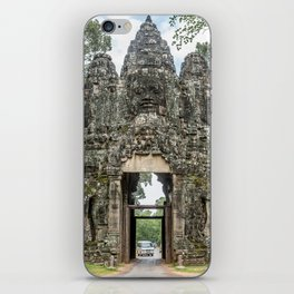 Leaving Through the Angkor Thom South Gate, Siem Reap, Cambodia iPhone Skin