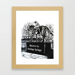 """Native Dancer"" Saratoga Springs, Thoroughbred Racehorse, Kentucky Derby, Equine Horse Artwork Framed Art Print"