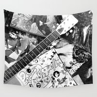 records Wall Tapestries featuring Records by Emily Morris