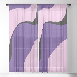 violet ice Sheer Curtain