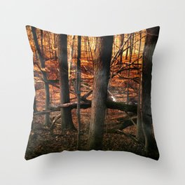 Sky Fire - surreal landscape photography Throw Pillow