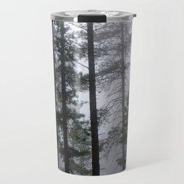 Mist Fog Ponderosa Pine Trees Travel Mug
