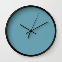 Crystal Blue - solid color Wall Clock