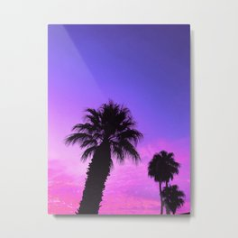 Blue Pink Sunset Metal Print