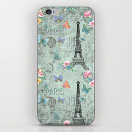 Paris - my love - France Eiffeltower Nostalgy- French Vintage iPhone Skin