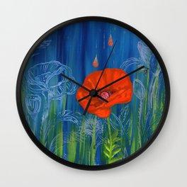 Poppy Night Wall Clock