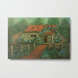 Country Cottage AC160826a Metal Print