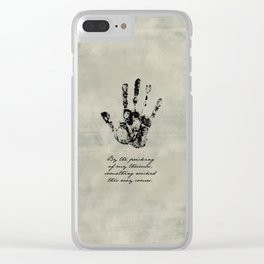 Shakespeare - Macbeth - Something Wicked This Way Comes Clear iPhone Case