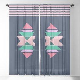 Minimal native decor Sheer Curtain