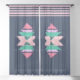 Minimal native decor Sheer Curtain
