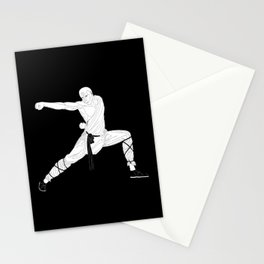 Monk warrior Stationery Cards