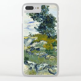 The Rocks by Vincent van Gogh Clear iPhone Case