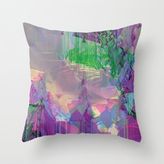 Glitched Landscape 2 Throw Pillow