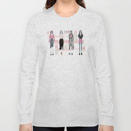 Pink Fashionary Long Sleeve T-shirt